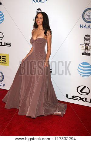 LOS ANGELES - FEB 5:  Jurnee Smollett-Bell at the 47TH NAACP Image Awards Arrivals at the Pasadena Civic Auditorium on February 5, 2016 in Pasadena, CA
