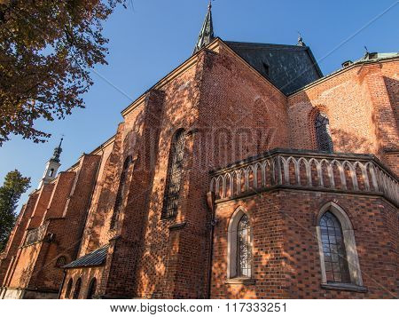 A Fragment Of The Facade Of The Historic Cathedral City Of Sandomierz
