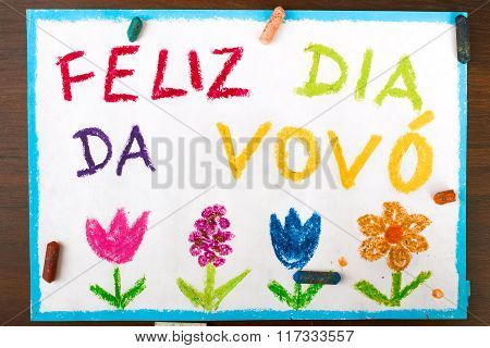 Portuguese grandmothers day card