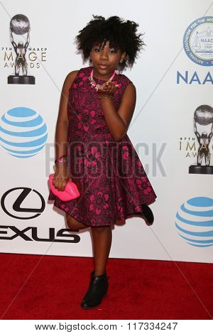 LOS ANGELES - FEB 5:  Trinitee Stokes at the 47TH NAACP Image Awards Arrivals at the Pasadena Civic Auditorium on February 5, 2016 in Pasadena, CA