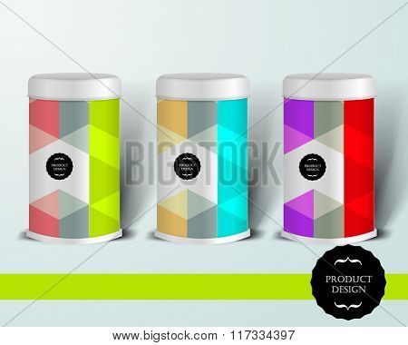 Mockup template for branding and product designs. Isolated realistic can with unique design. Easy to use for advertising branding and marketing.