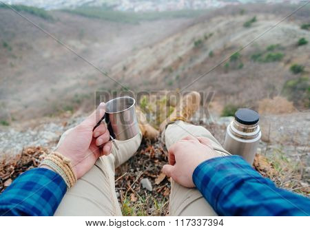 Drinking Tea In The Mountains