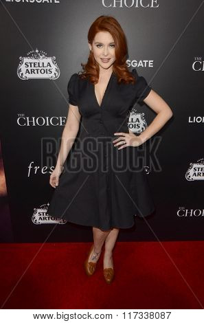LOS ANGELES - FEB 1:  Renee Olstead at the The Choice Special Screening at the ArcLight Hollywood Theaters on February 1, 2016 in Los Angeles, CA