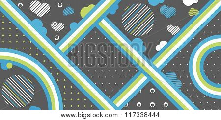 Simple shapes line art background