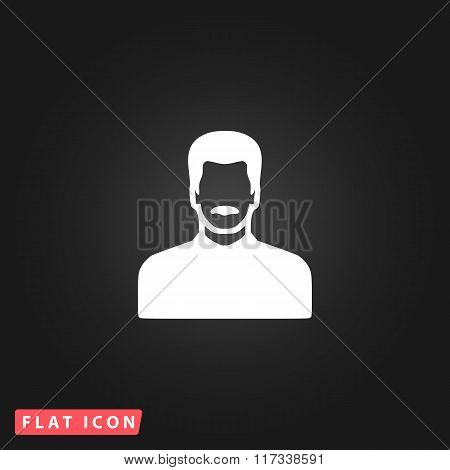 Vector Man with Mustache Icon