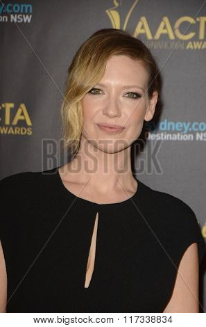LOS ANGELES - JAN 29:  Anna Torv at the 2016 AACTA International Awards at the PETA's Bob Barker Building on January 29, 2016 in Los Angeles, CA
