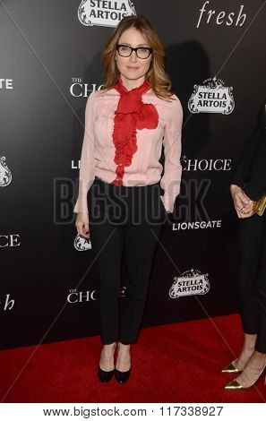 LOS ANGELES - FEB 1:  Sasha Alexander at the The Choice Special Screening at the ArcLight Hollywood Theaters on February 1, 2016 in Los Angeles, CA