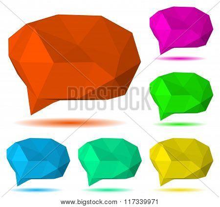 Low Polygonal Speech Bubbles