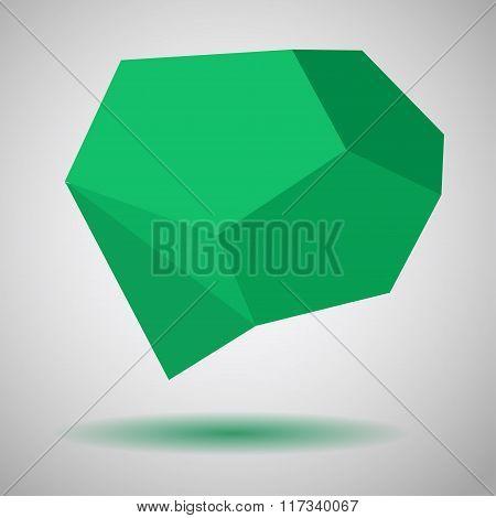 Green Low Polygonal Speech Bubbles