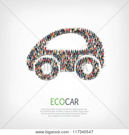 group  people  shape  eco car