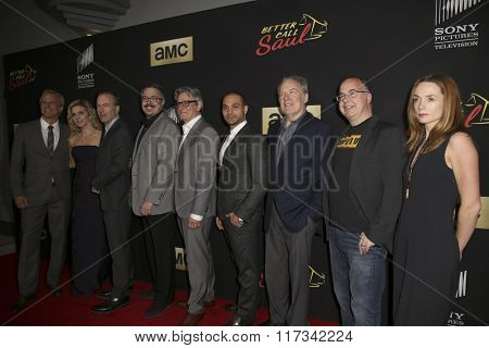 LOS ANGELES - FEB 2:  Better Call Saul Cast and Crew at the Better Call Saul Season Two Special Screening at the ArcLight on February 2, 2016 in Culver City, CA