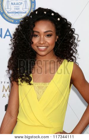 LOS ANGELES - FEB 5:  Genneya Walton at the 47TH NAACP Image Awards Arrivals at the Pasadena Civic Auditorium on February 5, 2016 in Pasadena, CA