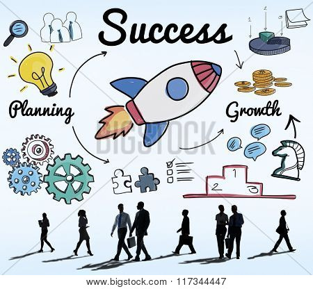 Success Start up Innovation Growth Improvement Concept