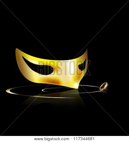 yellow half mask
