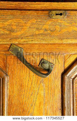 In The Travedona Monate   Brown Knocker A  Door Curch