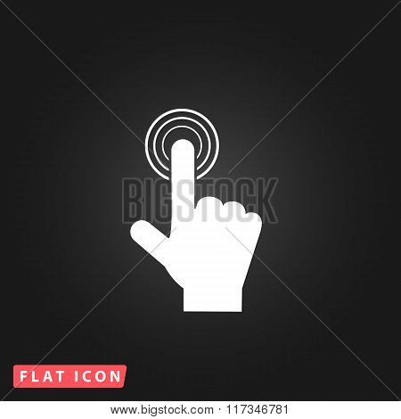 click. hand icon pointer. vector