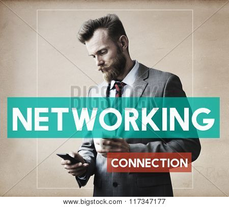 Businessman Technology Connection Communication Concept
