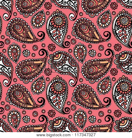 Paisley. Paisley pattern. Vector seamless ornament (background).