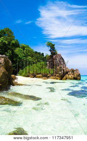 Beautiful Sea Idyllic Island
