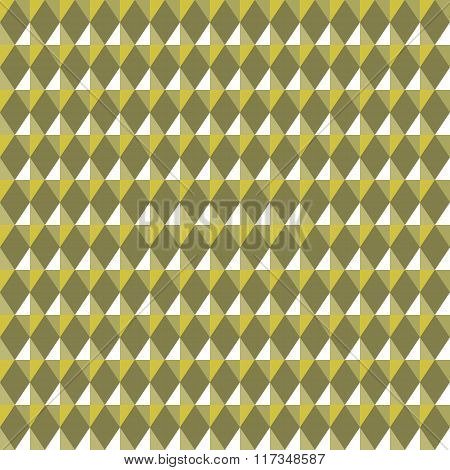 Seamless geometric rhombic pattern. Convex shine texture with glitters, sparkles on rhombs. Green-go