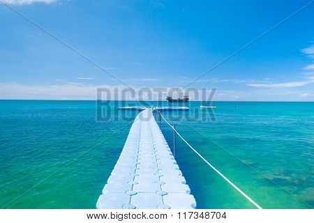Calm Meditation Jetty to the blue