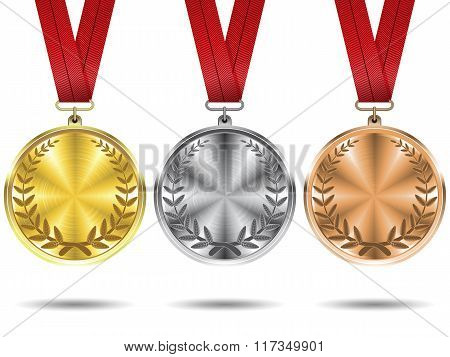 Set of medals.