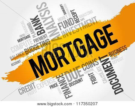 MORTGAGE word cloud business concept, presentation background