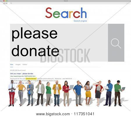 Please Donate Funding Giving Help Volunteer Aid Concept