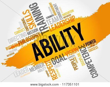 Ability Word Cloud