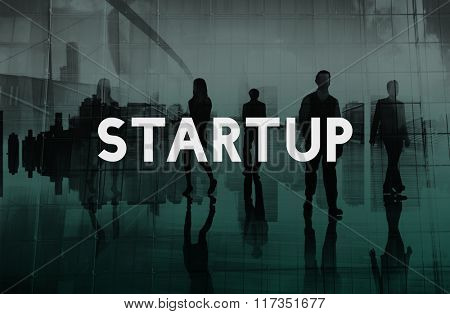 Start up New Business Vision Mission Concept