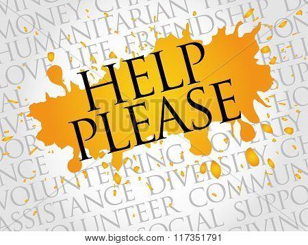 Help Please Word Cloud