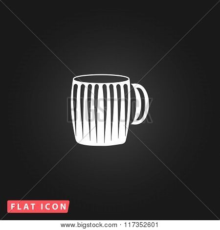 Vector illustration of empty beer mug.
