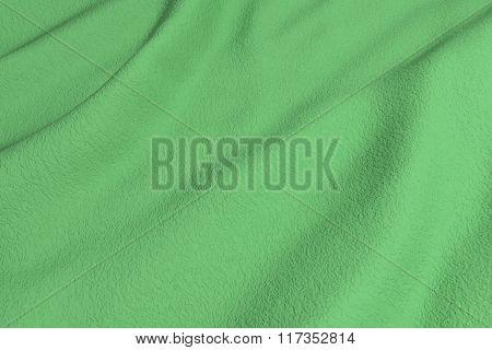 Green Rippled Fabric
