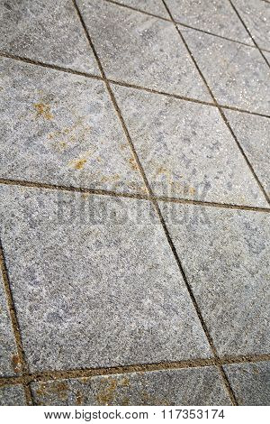 Brick In Casorate Sempione  Abstract   Pavement  A Curch And Marble