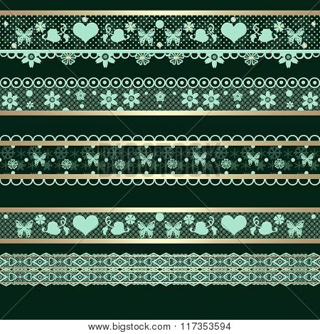 Seamless Lace Lacy Ribbon Pattern Washi Tapes Background Texture