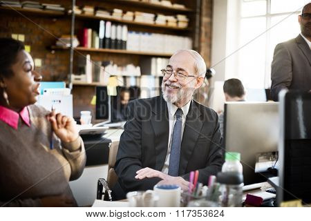 Business People Talking Planning Job Concept