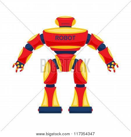 Vector red robot.