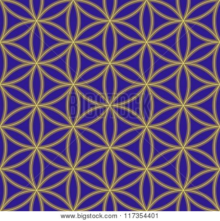 Colored Flower Of Life Sacred Geometry Pattern.