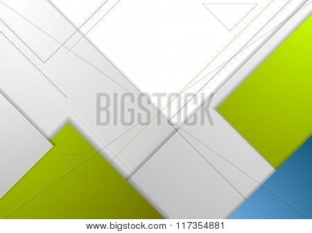 Tech minimal corporate flyer template. Vector brochure background