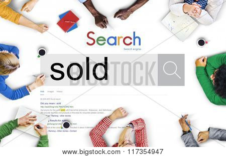 Sold Sale Customer Commerce Product Commercial Concept