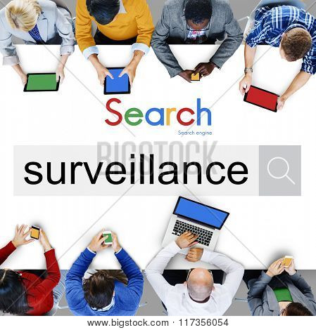 Surveillance Protection Observe Security Risk Concept