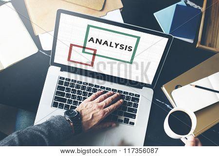 Business Man Computer Analysis Concept
