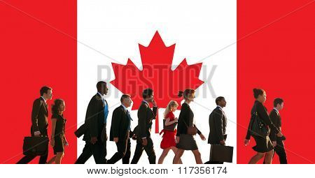 Canada National Flag Business People Team Concept