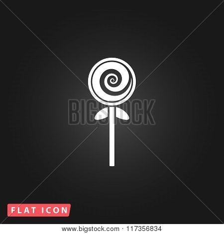 Spiral candy flat icon