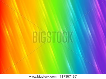 Rainbow shiny blurred stripes abstract background. Vector illustration