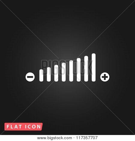 Volume adjustment symbol web icon.