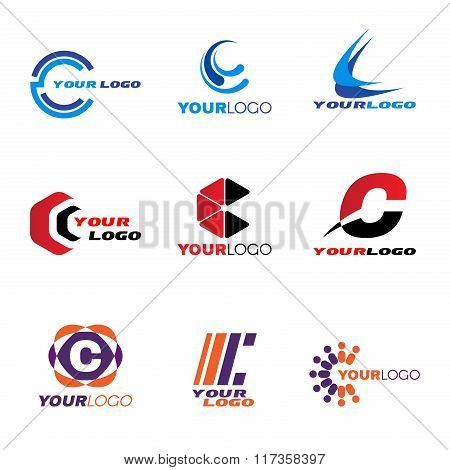 Letter C Logo Vector Set Design