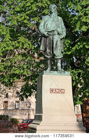 Vienna, Austria - April 22, 2010: Statue Of Hans Canon By Rudolf Weyr In The Stadtpark (city Park) I