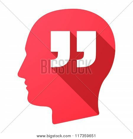 Male Head Icon With  Quotes