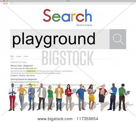 Playground Playing Children Childhood Child Fun Concept